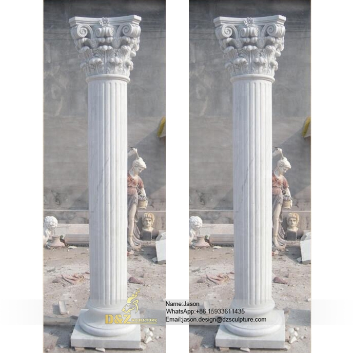 Outdoor decorative pillars