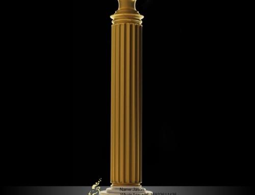 Golden stone pillar