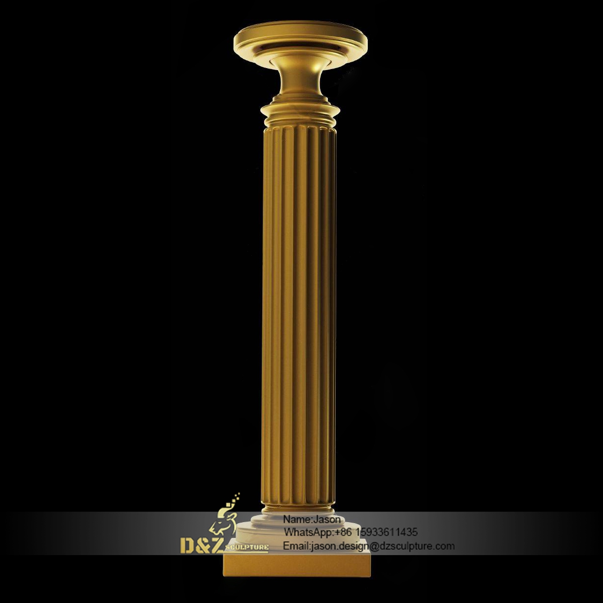 Golden stone pillar
