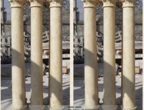 Classical round stone pillars