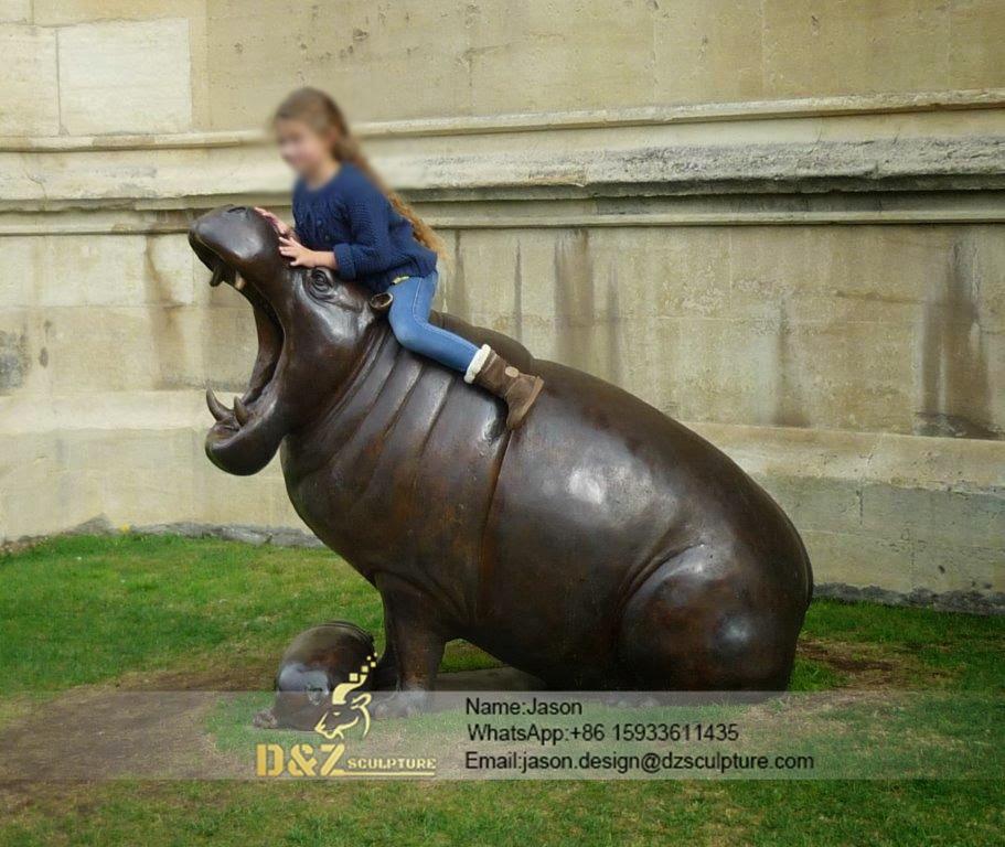 bronze buffalo statue sculpture