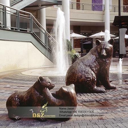 Bronze buffaloes sculpture