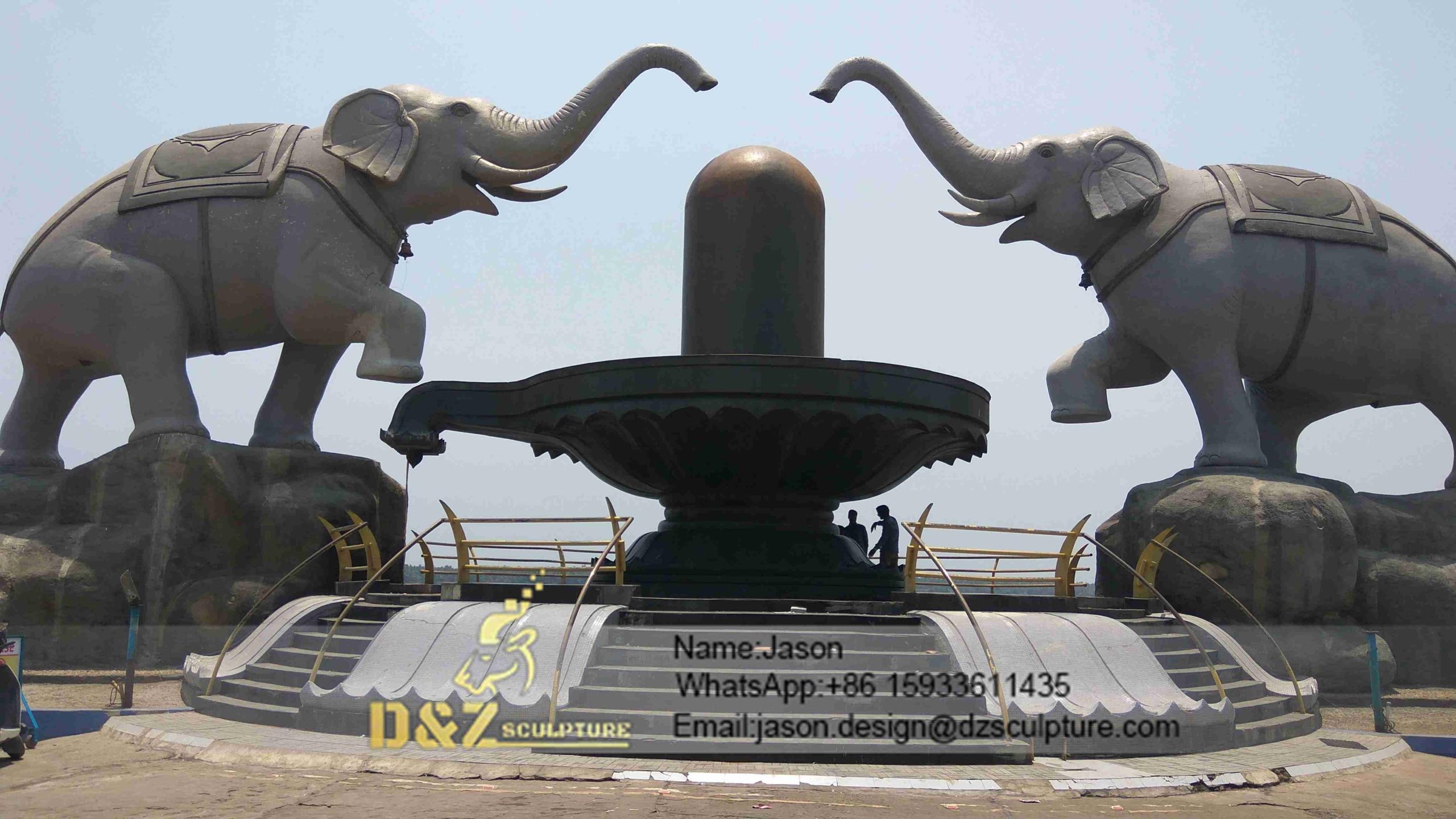 Antique bronze elephant