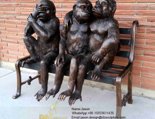 Monkeys sculpture statue for outdoors