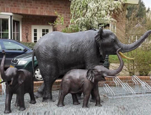 Customized size elephants sculpture for decoration