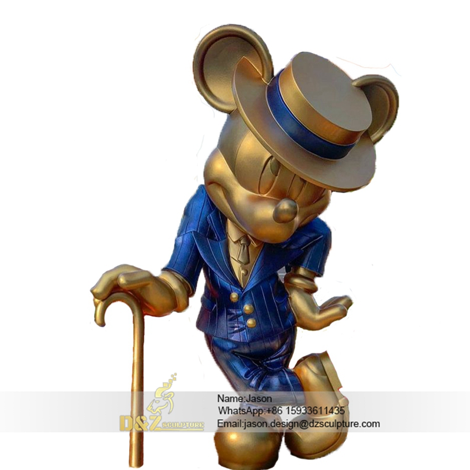 Mickey mouse statue bronze
