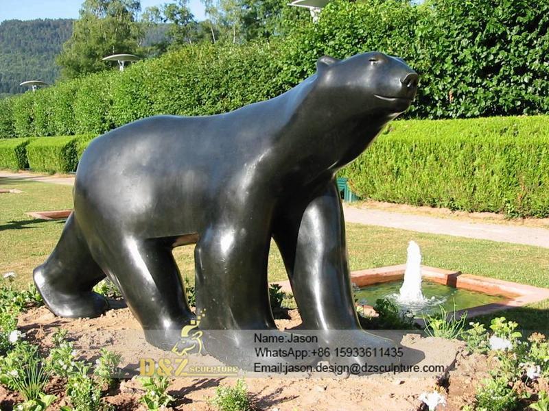 Mouseion polar bear bronze