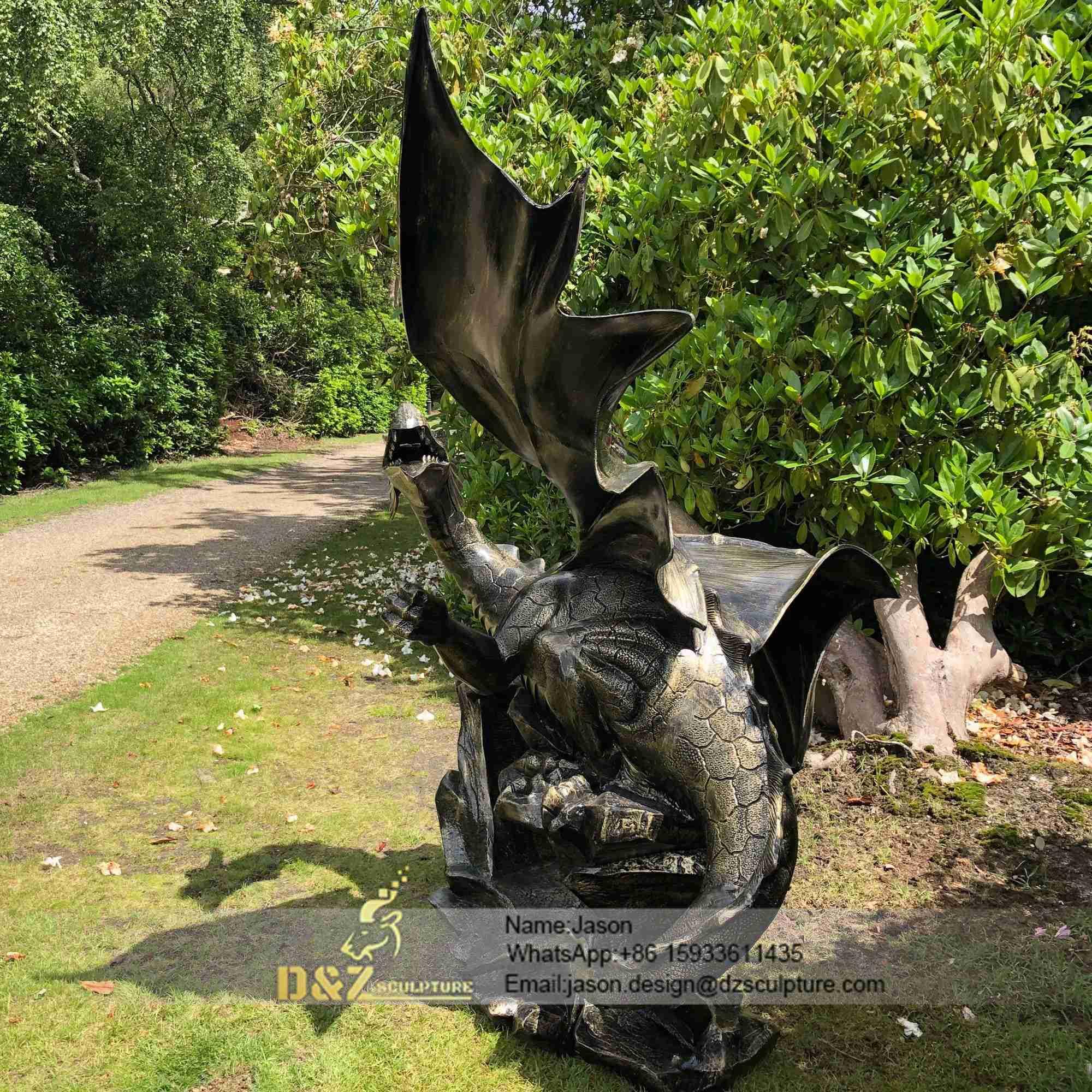 Mystical dragon 232cm bronze