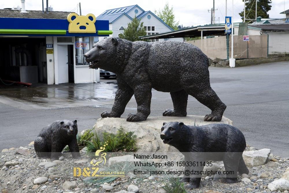 Black bronze bear