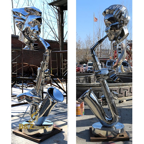 stainless steel music sculpture