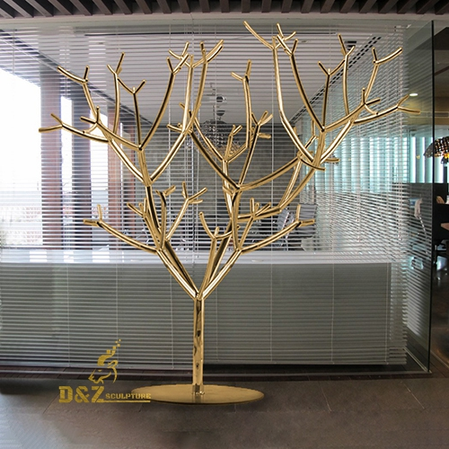 stainless steel tree statue
