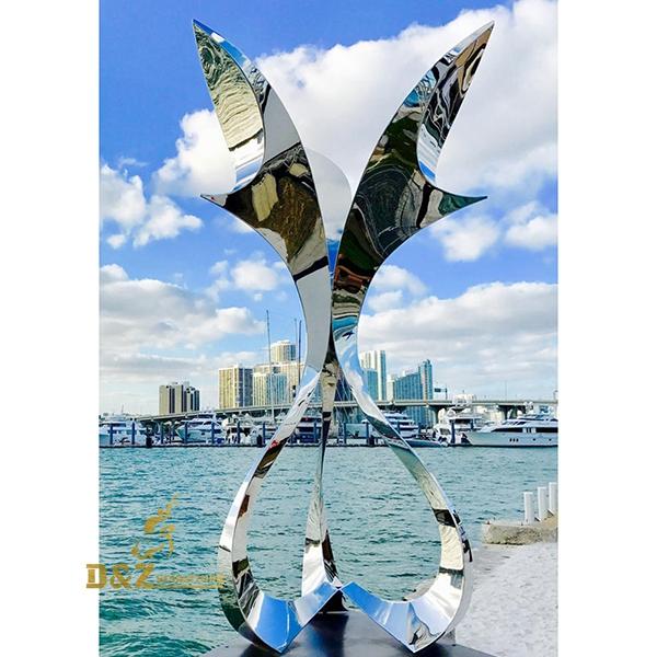 stainless steel metal sculpture