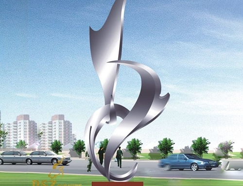 stainless steel statues abstract city decor