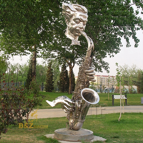 stainless steel music statue