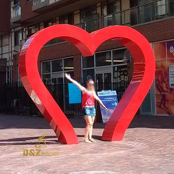 heart stainless steel sculpture