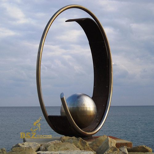 metal sculpture art stainless steel