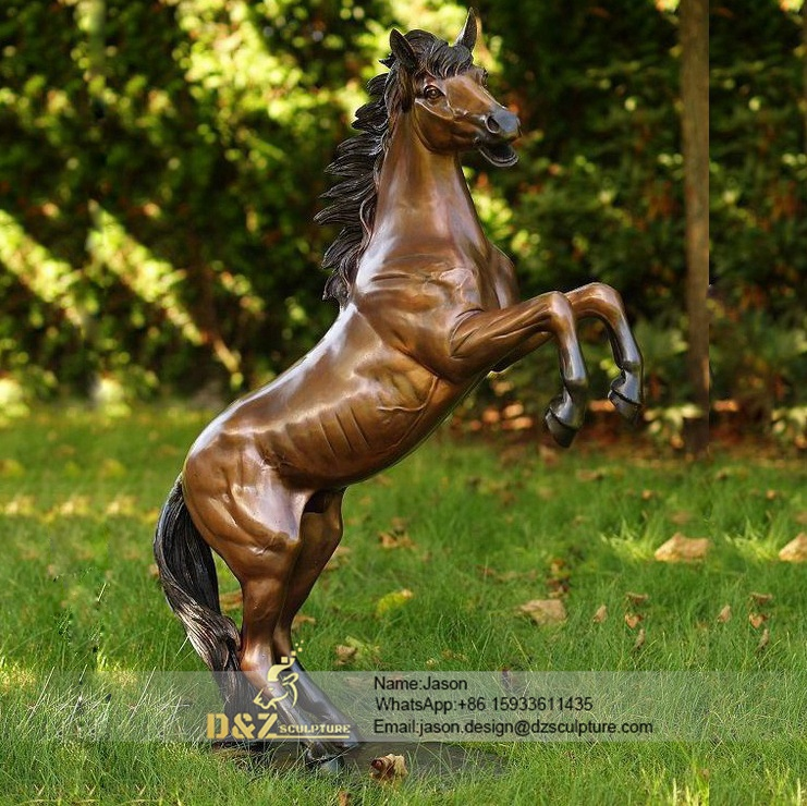 The running horse sculpture