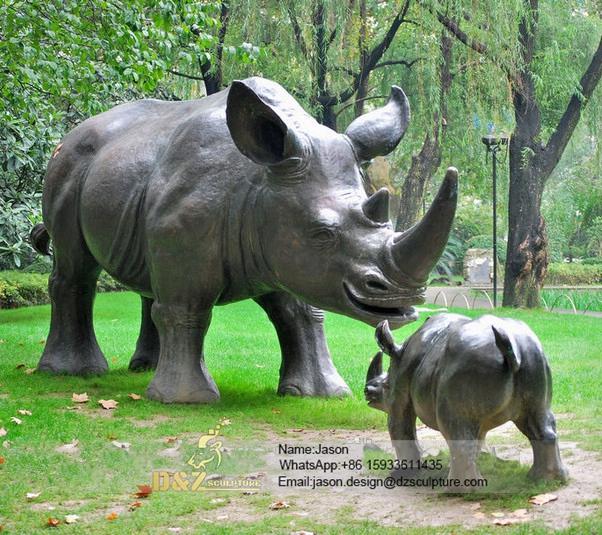Buffalos sculpture animal decoration
