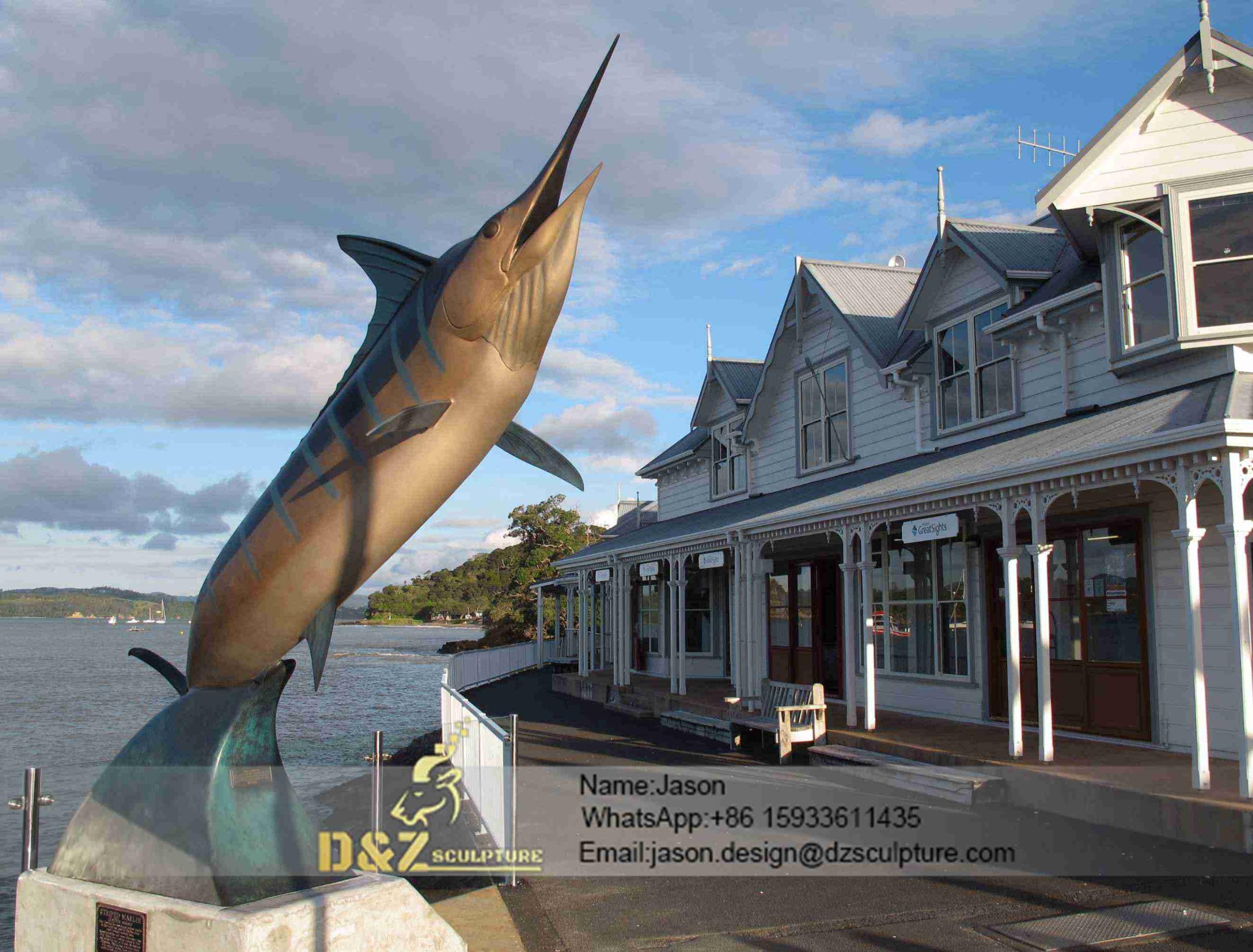 Swordfish sculpture